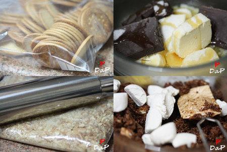 Hacer falso turrón de chocolate