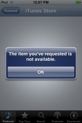 error apple iphone