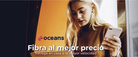 Oceans da la bienvenida a la fibra a óptica con dos tarifas de 100 y 600 Mbps desde 24,90 euros al mes