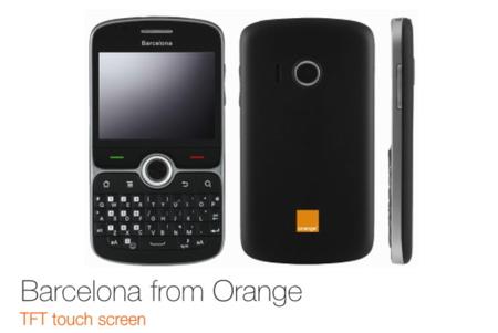 Orange Barcelona: Android, teclado QWERTY y pantalla táctil