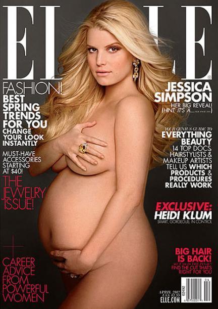 Embarazadas famosas: la portada de Jessica Simpson