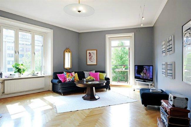 Casas que inspiran cuando el lujo es el espacio - Paredes color gris ...