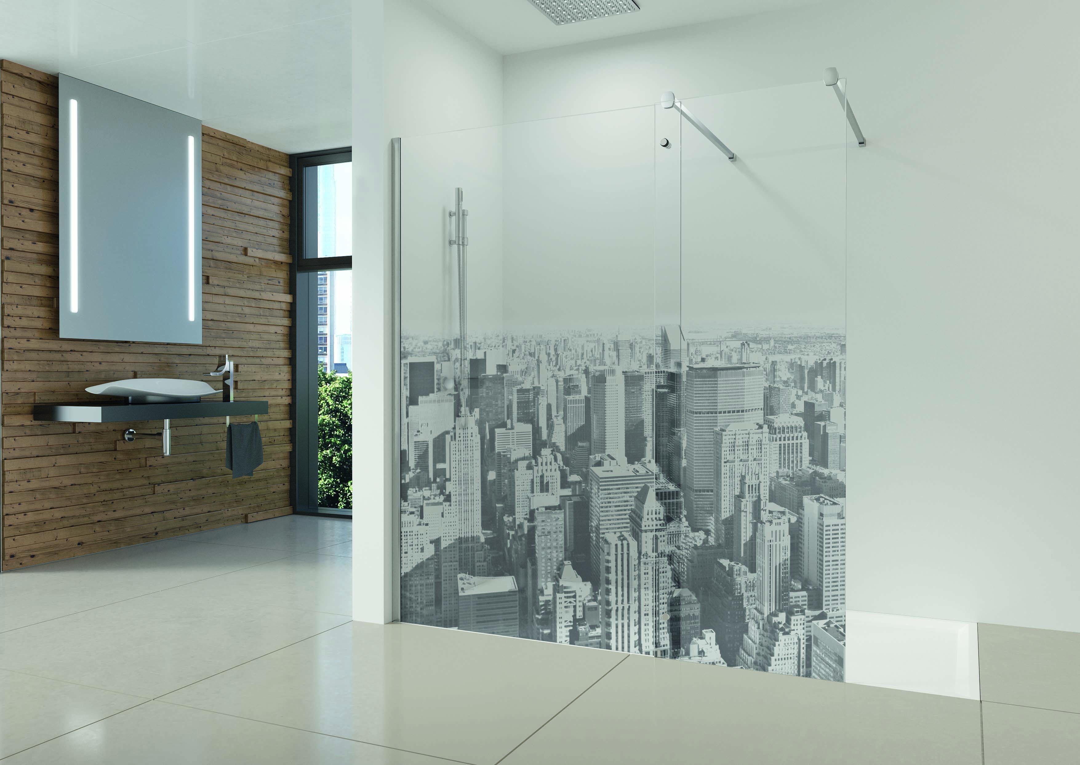 Mamparas personalizables para los cuartos de ba o m s amplios - Cuartos de bano grandes ...