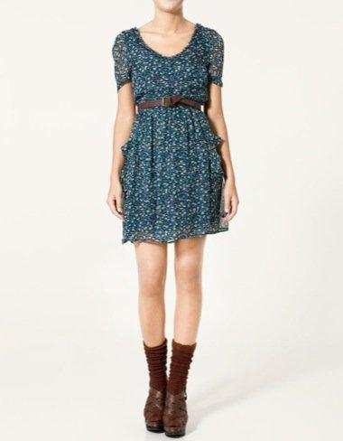 Zara Otoño-Invierno 2010/2011, vestido florales