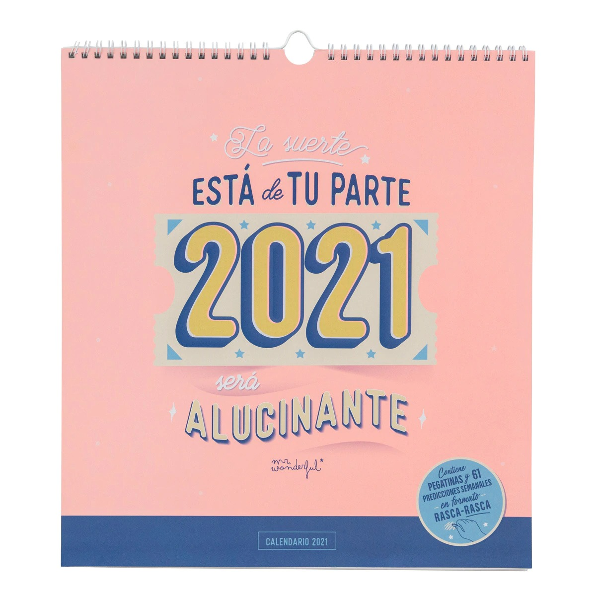 Calendario de pared 2021 Mr Wonderful