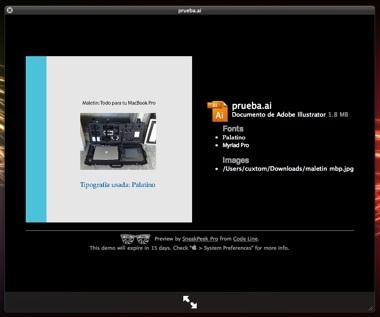 SneakPeek Pro plugin para Quicklook perfecto para diseñadores