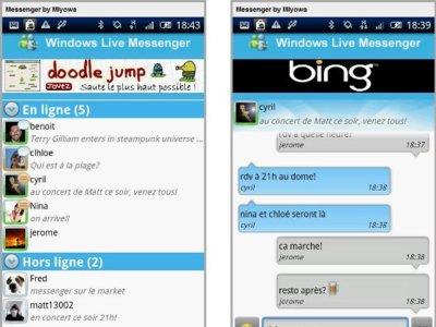 Windows Live Messenger disponible para Android