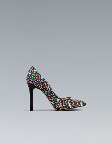 zapatos zara brillantes