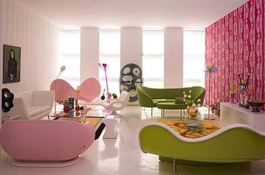 Alegre y colorista loft de Karim Rashid en New York
