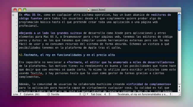 editores texto textmate mac os x snow leopard