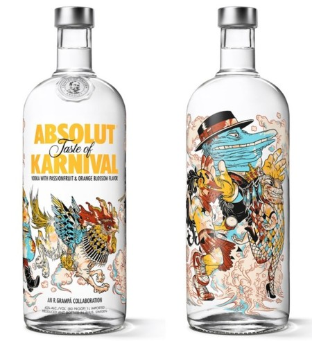 botella absolut karnival