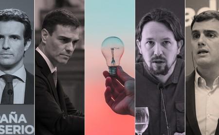 Qué dicen los programas de PSOE, PP, Podemos, Ciudadanos y Vox sobre política energética, energía solar y nucleares