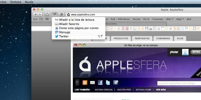 Opciones de compartir en OS X