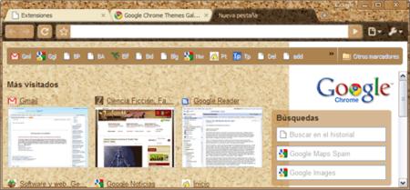Fallo en algunos temas para Chrome