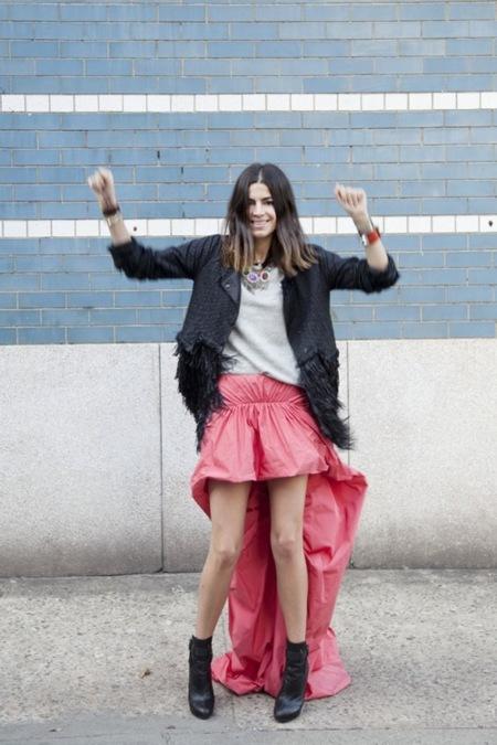 Tail hem: llega un nuevo largo de falda