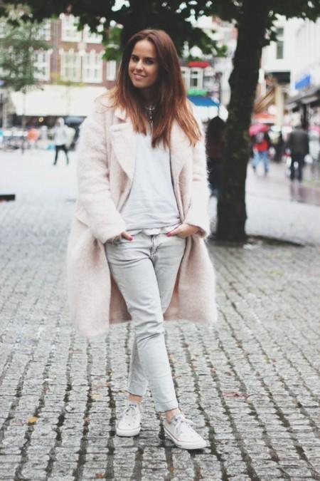 abrigo rosa hm