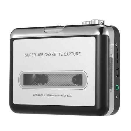 ¿Todavía tienes música en cassette? Convertidor de cassette a MP3 por sólo 11,66 euros con este cupón