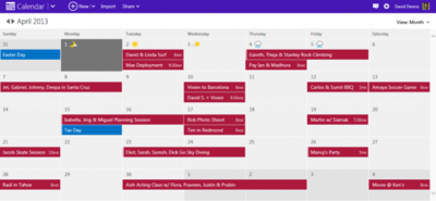 Renovado el calendario de Outlook.com