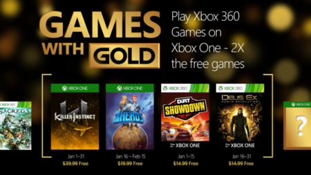 Microsoft comienza  fuerte 2016:  su primera remesa de  Games with GOLD es todo un Ultra Combo
