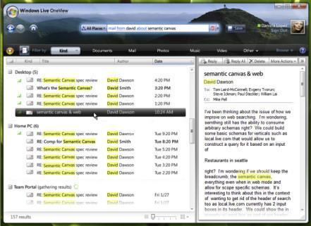 Windows Live OneView, o el rumor sobre el nuevo buscador de Windows Vista