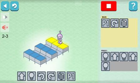 Captura del juego Lightbot
