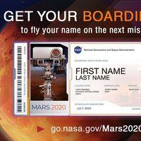 La NASA nos invita a enviar nuestro nombre a Marte como parte de su próxima misión 'Mars 2020'