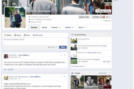 Facebook empieza a desplegar la nueva versión de la Biografía en Nueva Zelanda