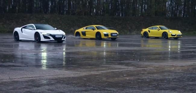 Honda Nsx Audi R8 Porsche911