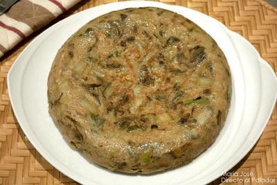 Tortilla de hortalizas. Receta