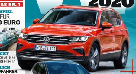 ¡Filtrado! El Volkswagen Tiguan 2021 luce su nuevo rostro en portada de revista