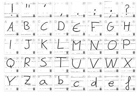 Letra sin corregir