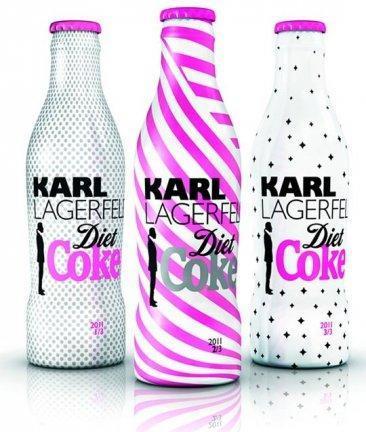 Karl Lagerfeld y una nueva edición de Coca-Cola Light