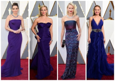 Looks Morados Y Azules Oscar 2016