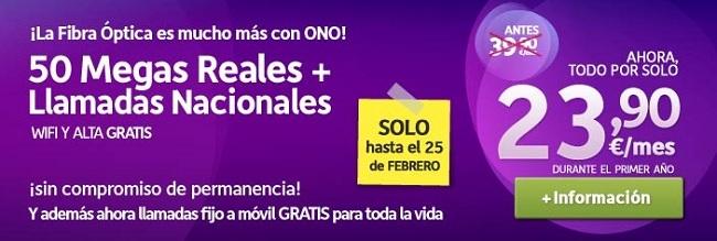 Ono también rebaja el precio de sus combinados con Banda Ancha de 50 Mb