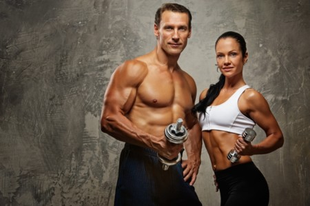 Mujer y hombre fitness