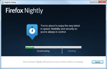 Firefox instalador Windows de versiones nightly en acción