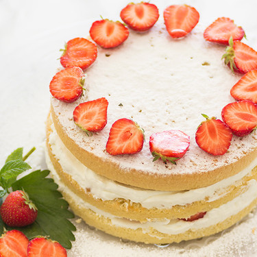 Victoria Sponge Cake con fresas: receta
