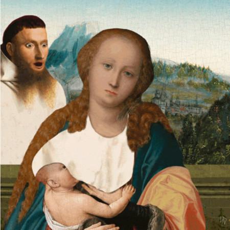 La lactancia materna en público en una divertida imagen animada