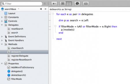 Implementación con Delegado para módulo de búsqueda