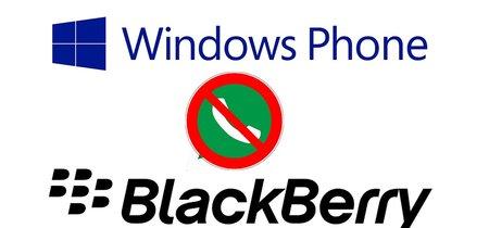 El 31 de diciembre WhatsApp cortará el soporte para Windows Phone y BlackBerry