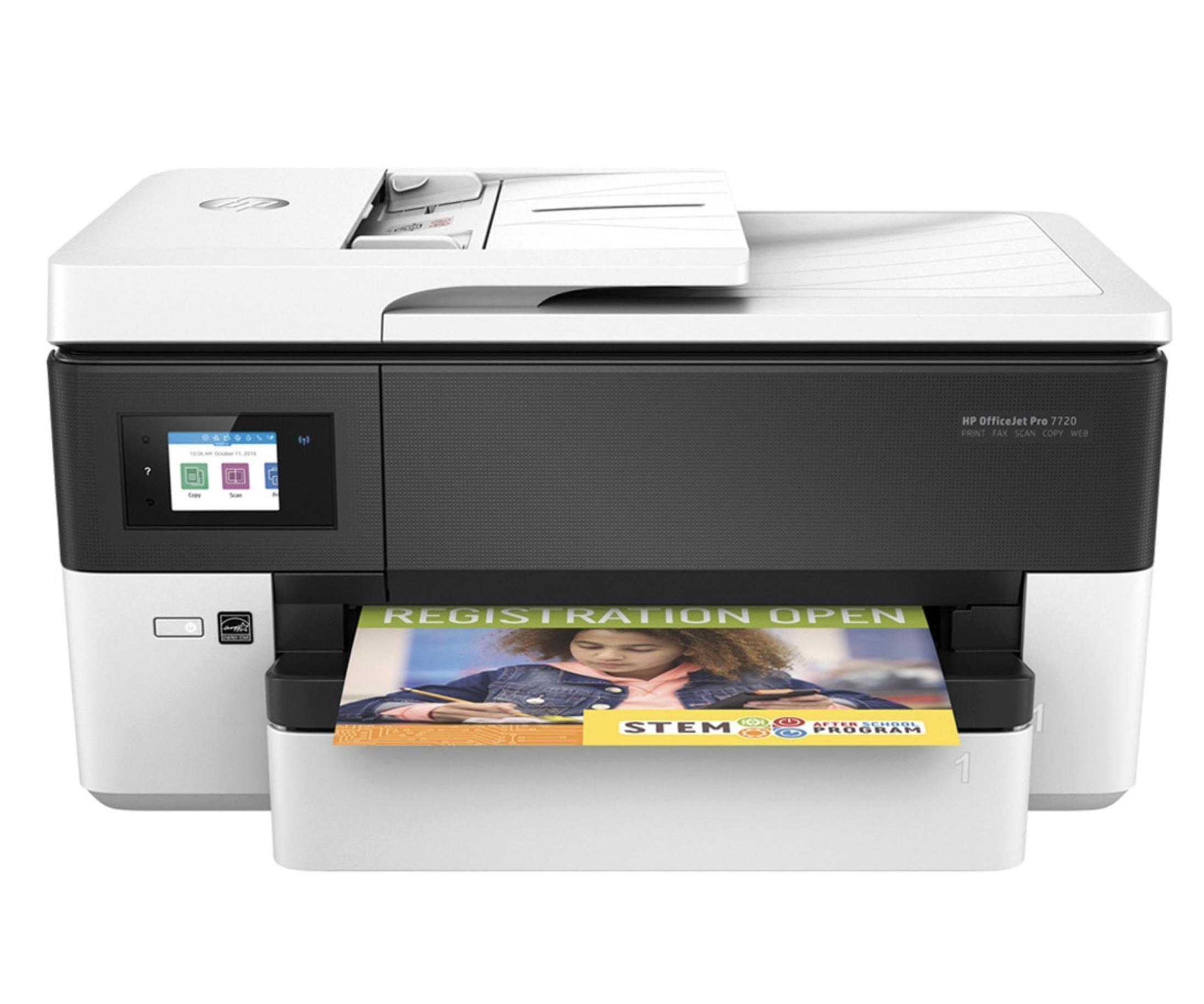 Impresora Multifunción tinta HP OfficeJet Pro 7720, Wi-Fi, copia, escanea, envía fax, impresión hasta tamaño A3