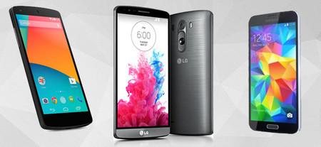 Nexus 5, G3, S5