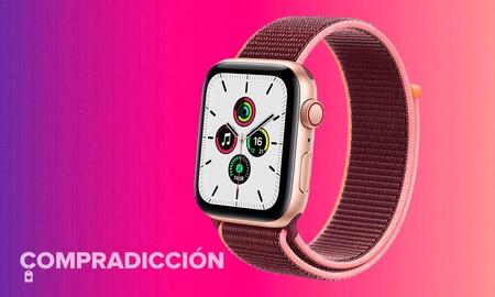 Regalar a tu madre un Apple Watch SE de 44mm GPS+Celular sale 43 euros más barato en MediaMarkt comprando el modelo dorado con correa Loop en color ciruela