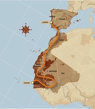 Mapa Dakar 2007