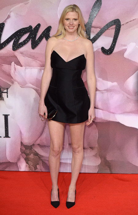 British Fashion Awards 2016 Lara Stone