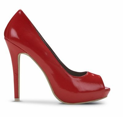 zapatos rojos blanco