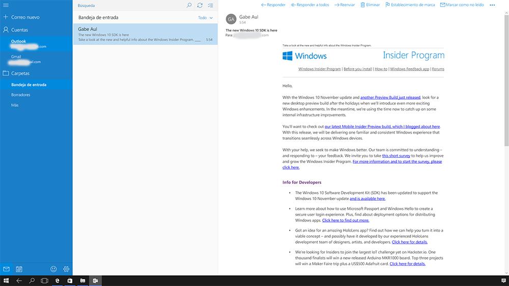 Foto de Continuum en Windows 10 Mobile (32/37)