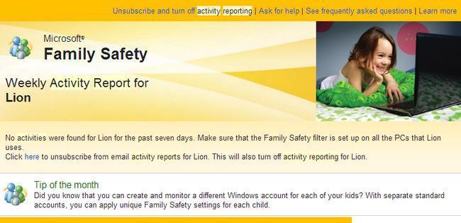 Informe Control Parental Windows 8