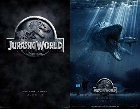 Dos carteles de Jurassic World