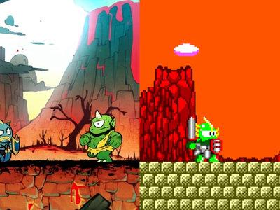 Wonder Boy: The Dragon's Trap te permitirá recuperar los gráficos de la Master System en mitad de la partida